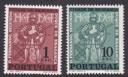 Portugal SG 1263-1264 1965 400th Anniversary Of Braganza, Mint Never Hinged - 1910-... República