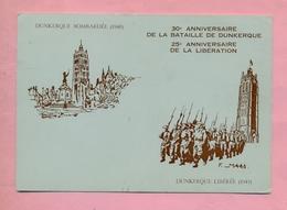 59 - NORD - DUNKERQUE - ASSOCIATION PHILATELIQUE DES FLANDRES - CARTE COMMEMORATIVE  - WWII - ILLUSTRATION F MAES - - Dunkerque