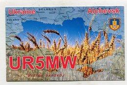 QSL CARD  - AK 322642 Ukraine - Alchevsk - Radio