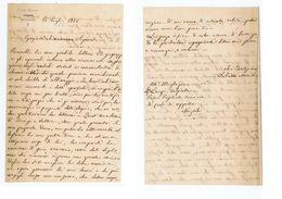 LIBORIO MENICHINI- DEPUTATO ( CATANZARO ) LETTERA AUTOGRAFA - 1876 - Autographs