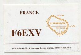 QSL CARD  - AK 322649 France - Pacific - Clipperton DX Club - Radio Amatoriale