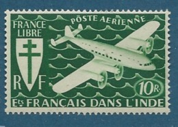 Inde Française   - Aérien -  - Yvert N°  6   **  - Bce 12109 - India (1892-1954)