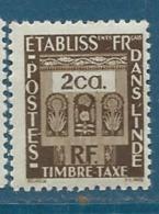 Inde Française   -  Taxe   - Yvert N°  20 **  - Bce 12116 - India (1892-1954)