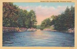 New York Thousand Islands Benson's Hill Canadian Side Curteich