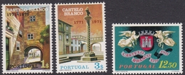 Portugal SG 1429-1431 1971 Bicentenary Of Castelo Blanco, Mint Never Hinged - Unused Stamps