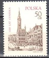 Poland 1997 City Of Gdansk - Mi 3640 -MNH(**) - 1944-.... Republik