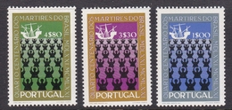 Portugal SG 1435-1437 1971 400th Anniversary Of Martyrdom Of Brazil, Mint Never Hinged - Unused Stamps