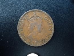 CARAIBES ORIENTALES : 1 CENT  1957  KM 2   TTB - East Caribbean States
