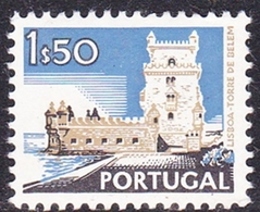 Portugal SG 1447 1972 Buildings And Views, 1e 50c Belem Tower, Mint Never Hinged - Unused Stamps