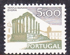 Portugal SG 1454 1974 Buildings And Views, 5e Roman Temple, Evora, Mint Never Hinged - Unused Stamps