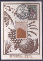 Carte Maximum Exposition Oran 1950 - Tarjetas – Máxima