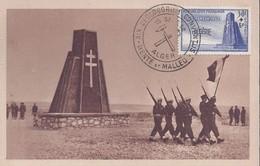 Carte Maximum Bir Hakeim 1952 - Maximumkarten