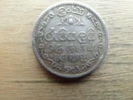 Sri Lanka  (ceylon)  1  Rupee  1963  Km 133 - Sri Lanka