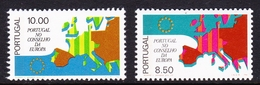 Portugal SG 1641-1642 1977 Admission To The Council Of Europe, Mint Never Hinged - Unused Stamps