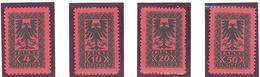 Albanie: Yvert Taxe N° 18/21**; MNH - Albanie