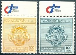 Costa Rica - 1985 - Yt 397/398 - Symboles De La Patrie - ** - Costa Rica