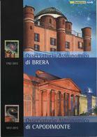 """2012 Italia, Folder """" Osservatorio Astronomico Di Brera """" Al Prezzo Di Copertina - 1946-.. République"""