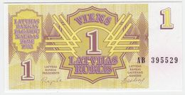 Latvia P 35 - 1 Rublis 1992 - UNC - Lettonia