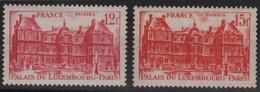 FR 1093 -2FRANCE N° 803/04 Neufs** 1er Choix Palais Du Luxembourg - Ungebraucht