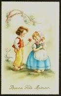 Fantaisie Bonne Fête Maman Enfants Fleurs Signée Edition Univers - Fête Des Mères