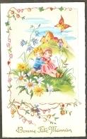 Fantaisie Bonne Fête Maman Enfants Fleurs Papillon Edition MD Paris N° 1605 - Fête Des Mères