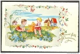 Fantaisie Bonne Fête Maman Enfants Nounours Edition MD Paris N° 1605 - Fête Des Mères