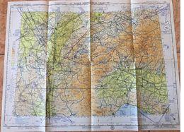 LAKE OF GENEVE - LONG RANGE AIR NAVIGATION CHART - U.S ARMY AIR FORCE - MAP 1952 - Maps