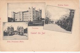 CPA - ROUMANIE - JASI - SALUTARI DIN JASI - 3 Vues Vers 1900 Caza , Gradina Copou Et Aleia Principesa Maria - Bel état - - Romania