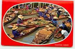 THAILANDE MARCHE SUR L'EAU VOIR TIMBRE - Tailandia