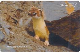 Andorra - STA - Pine Parten Animal - 08.1997, 50Units, 20.000ex, Used - Andorra