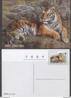 FAUNA, 2017, MINT, POSTAL STATIONERY,  WWF, TIGERS,  PREPAID POSTCARD - Unused Stamps