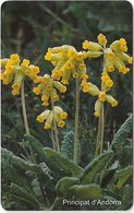 Andorra - STA - Yellow Flower - 09.2001, 50Units, 20.000ex, Used - Andorra