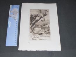 LE CANAL DE L'YSER DIXMUDE - 1919 Ex Libris FLORE HENEAU - N°77 - Estampes & Gravures