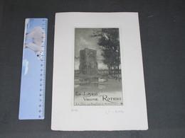NIEUPORT LA TOUR DES TEMPLIERS - Ex Libris VIRGINIE ROTIERS N°113 - Signé Louis TITS - Estampes & Gravures