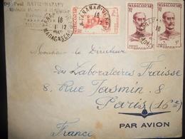 Madagascar Lettre De Tananarive 1949 Pour Paris - Madagascar (1889-1960)