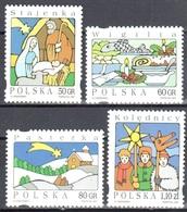 Poland 1997 Christmas - Mi 3682-85 - MNH(**) - 1944-.... Repubblica