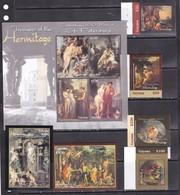 Guyana 2004 Paintings Art Hermitage Durer Etc Set+2s/s+klb MNH - Art