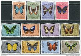 Papua New Guinea 1966. Michel #83/94 MNH/Luxe. Butterflies (Ts20) - Papouasie-Nouvelle-Guinée