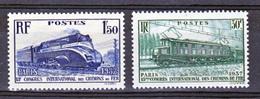 France 339 340 Chemins De Fer Neuf ** TB MnH  Sin Charnela Cote 20 - Ungebraucht
