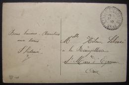 Saint-Mars-d'Égrenne 1912 (Orne) Joli Cachet Sur Une Carte Postale Assomption De La Vierge - Poststempel (Briefe)