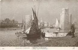 - Thèmes -ref-X10- Arts - Tableaux - Tableau - Peinture - Peintre E. Chevallier - Salon 1910 - Bassin De La Rochelle - - Peintures & Tableaux