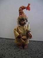 Vintage Figurine MECKI De 1950 - 1955 @ HERISSON 11 Cm Aller Dormir Nuit Nocturne Sommeil Au Lit ! - Figurines