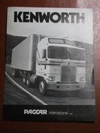 Livret Publicitaire - Dépliant Commercial - Camions Kenworth Paccar International Inc. - Années 70/80 - Prospectus - Automobil