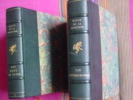 RESTIF DE LA BRETONNE :LES NUITS DE PARIS  & LES CONTEMPORAINES , 2 VOL.RELIÉS,Éd.TRIANON-Cuivres Orig.COCHET & GOOR - Livres, BD, Revues