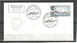 B1 - TAAF PO 54 Premier Jour Cachet Illustré St PAUL 31 DEC 1974 Sur Enveloppe Armoiries Par Gaufrage. - French Southern And Antarctic Territories (TAAF)