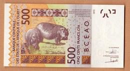 Senegal, Banque Central Des E'tats De L'Afrique De L'ouest- 2012-500 Francs CFA. - Senegal