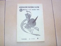 TESSERA LIBRETTO OPUSCOLO BRESCIA ASSOCIAZIONE NAZIONALE ALPINI ANA 43 RADUNO 1970 - Books, Magazines, Comics