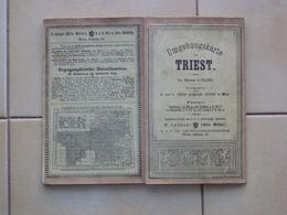 VECCHIA CARTA GEOGRAFICA TELATA DI TRIESTE TRIEST PERIODO AUSTRIACO - Books, Magazines, Comics