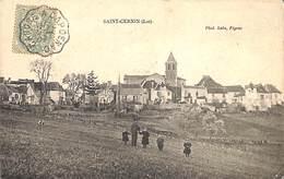 46 - Saint-Cernin - Panorama Eglise (animée, 1907, Phot. Lala) - France