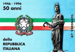 [MD1580] CPM - 87° VERONAFIL VERONA 1996 - 50° ANNIVERSARIO COSTITUZIONE NUMERATA N°204 - CON ANNULLO 8.11.1996 - NV - Esposizioni